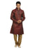 Firebrick Indian Wedding Kurta Pajama Sherwani for Men