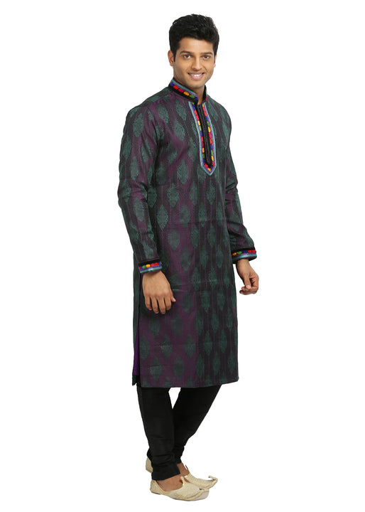 Blueviolet Indian Wedding Kurta Pajama Sherwani for Men
