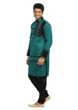 Green Indian Wedding Designer Kurta Pajama Sherwani for Men
