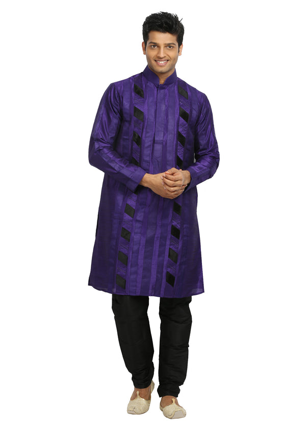 Groomsmen Purple Kurta Pajama Set