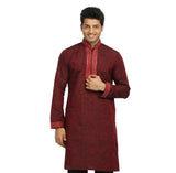 Maroon Indian Wedding Kurta Pajama for Men