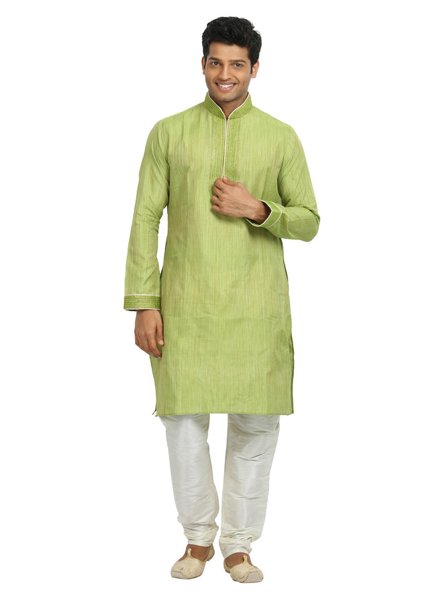 Groomsmen Light Green Kurta Pajama Set