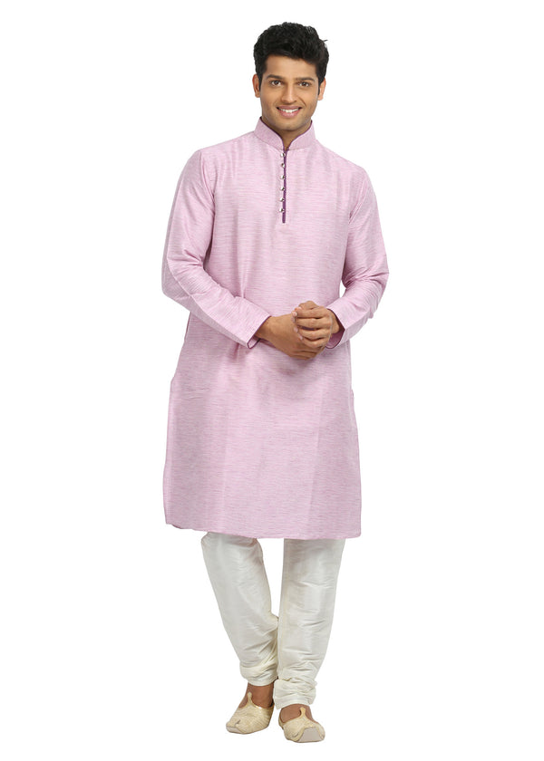 Groomsmen Light Pink Kurta Pajama Set