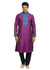 Magenta Indian Wedding Kurta Pajama Sherwani - Indian Ethnic Wear for Men