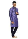 Dark Lavender Indian Wedding Kurta Pajama for Men