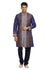 Blue Violet Indian Wedding Kurta Pajama Sherwani - Indian Ethnic Wear for Men