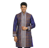 Blue Violet Indian Wedding Kurta Pajama for Men