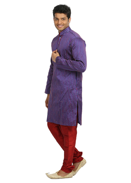 Purple Indian Wedding Kurta Pajama for Men