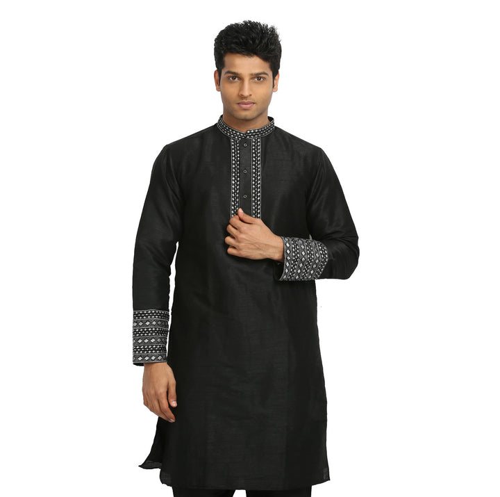 Black Indian Wedding Kurta Pajama for Men
