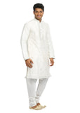 White Indian Wedding Kurta Pajama for Men