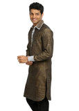 Dark Golden Rod Pathani Kurta for Men