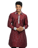 Scarlet Pathani Kurta for Men