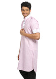 Plum Cotton Fabric Pathani Kurta for Men
