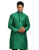 Green Silk Pathani Kurta for Men