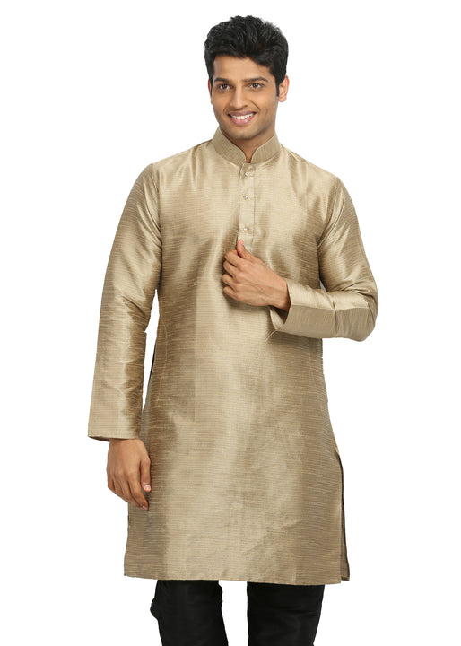 Moccasin Silk Pathani Kurta for Men