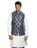 Blue Nehru Jacket for Men