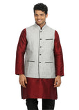 Silver Nehru Jacket for Men