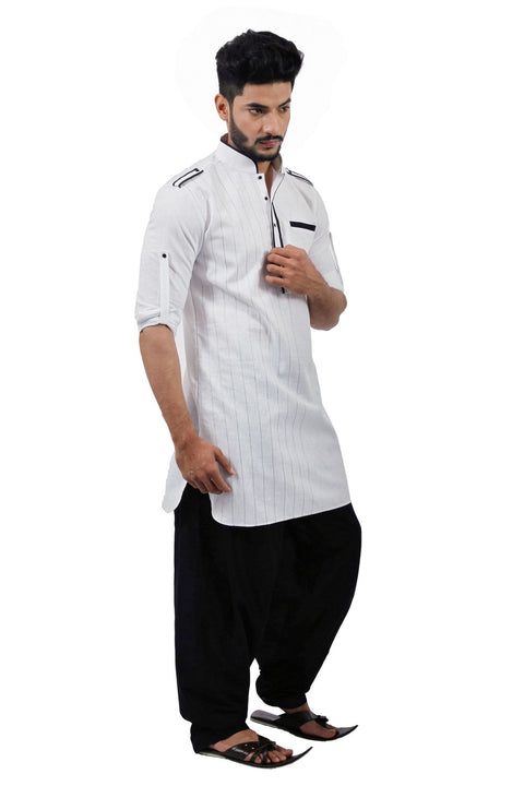 Saris and Things White Pathani Suit for Men