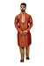 Indian Traditional Silk Sienna Kurta Pajama for Men