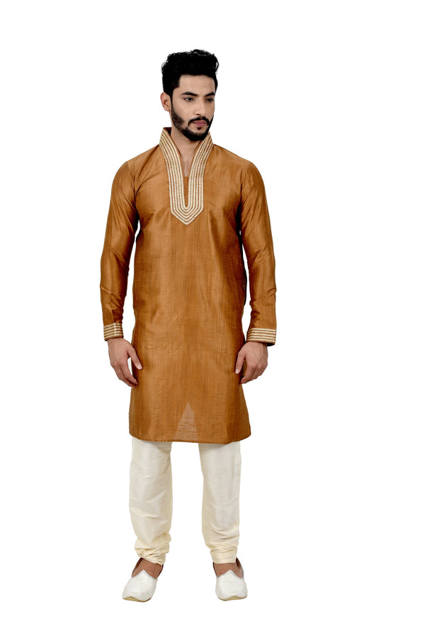 Indian Traditional Ghiccha Silk Peru Kurta Pajama for Men