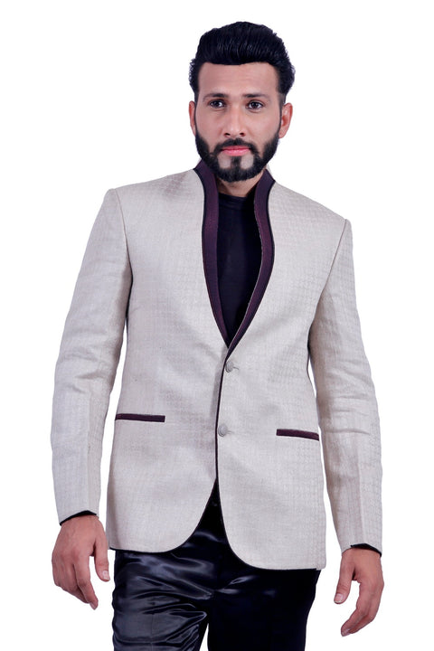 Perfectly Fitted Wheat Blazer for Men