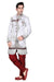 Ethnic Off White Brocade Silk Indian Wedding Sherwani For Men