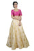 Royal Look Pink and Gold Crop Top Style Lehenga