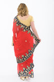 Trendy Red Bridesmaid Saris