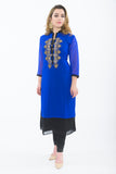 Radiant Royal Blue Kurti Salwar Kameez