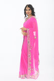 Olivia Pink Ready-Made Pre-Pleated Sari