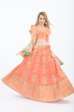 Madison Peach Heavy Bridal Lehenga Choli