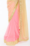 Leading Lady Ombre Pink Ready-Made Pre-Pleated Sari