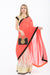 Light and Breezy Orange Modern Style Bollywood Party Sari