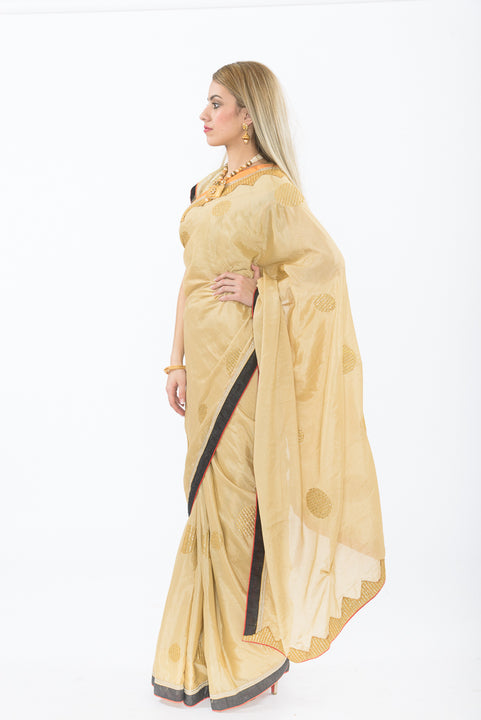 Starlight Gold Ready-Made Pre-Pleated Sari