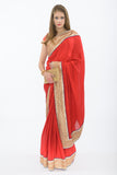 Runway Red Ready-Made Pre-Pleated Sari