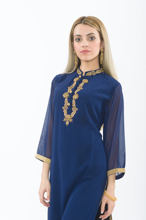 Sapphire Dreams Long Kurti - Close up