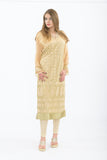 Designer Golden Long Kurti - Front