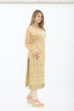 Designer Golden Long Kurti - Side