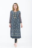 Dark Grey Designer Long Kurti
