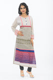 Exclusive Light Grey Long Kurti - Front