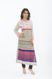 Exclusive Light Grey Long Kurti - Side