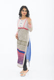Exclusive Light Grey Long Kurti - Side Left