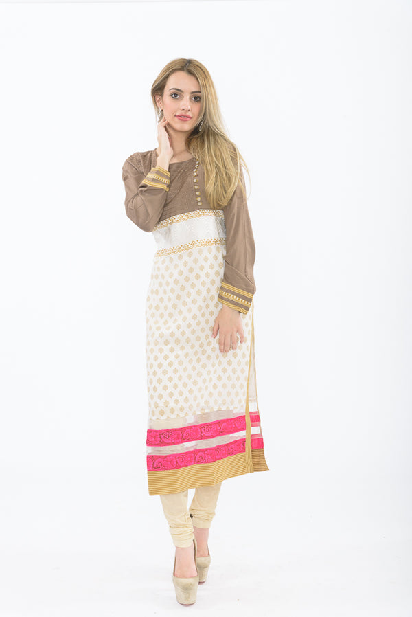 Coffee Crush Long Kurti with Leggings