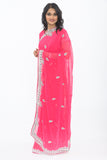 Diva Pink Ready Made Pre Stitched Sari