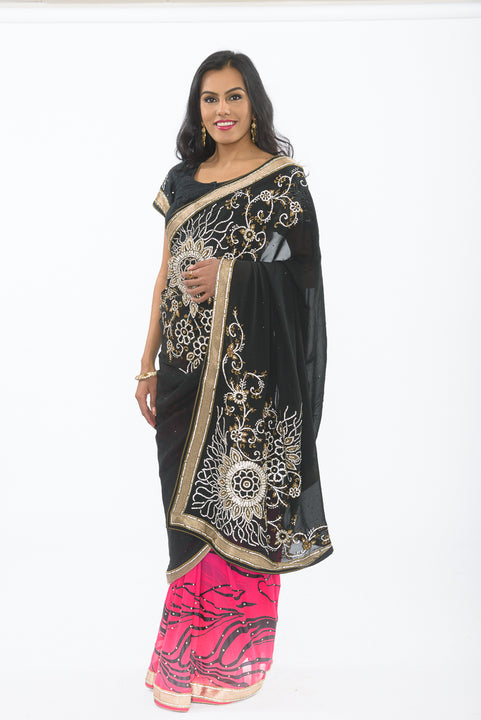 Summer Eclipse with Diamond Embroidery Sari