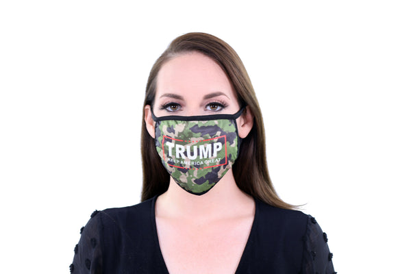 2 Pack Reusable Cloth Face Mask Washable Breathable 2 Layer Unisex Face Covering - Trump Keep America Great