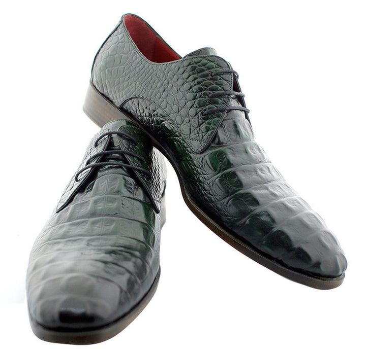 Oscar William Green Windsor Men's Luxury Classic Handmade Leather Shoes-12.5