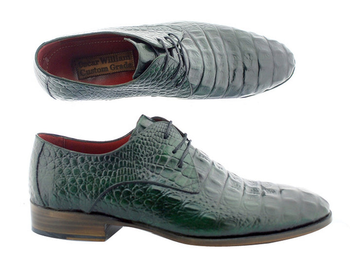 Oscar William Green Windsor Men's Luxury Classic Handmade Leather Shoes-13.5