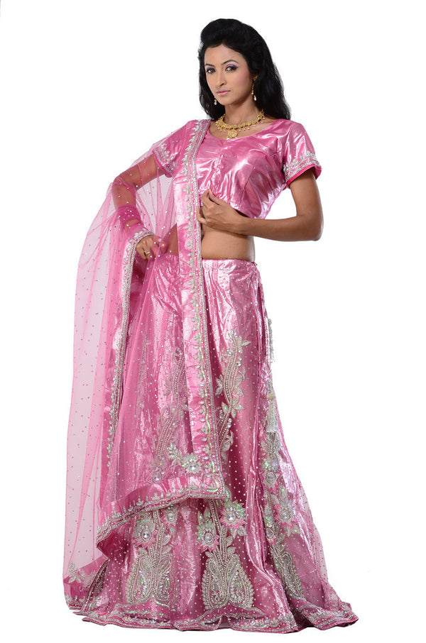 SALE -  Pink Wedding Lehenga Choli