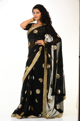 Sizzling Black Party-wear Sari